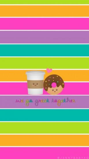 Cute coffee & donut wallpaper made by me 💁🏻💖 please give credit if you