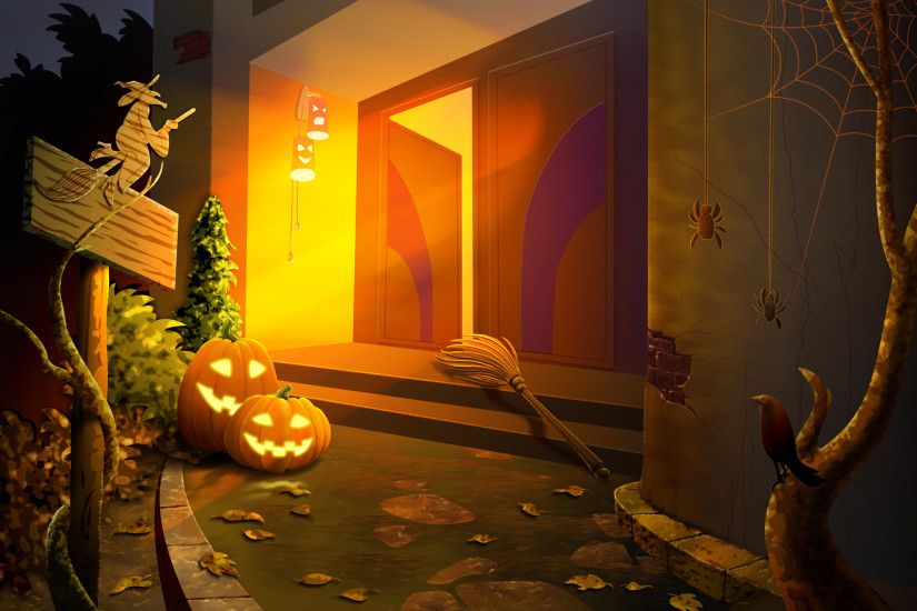 HD Wallpapers 27 Jack-o-lantern Wallpaper - Halloween Art illustration