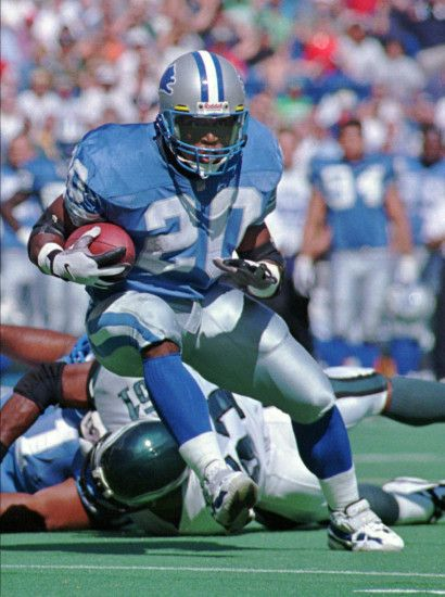 RB Barry Sanders of the Detroit Lions.