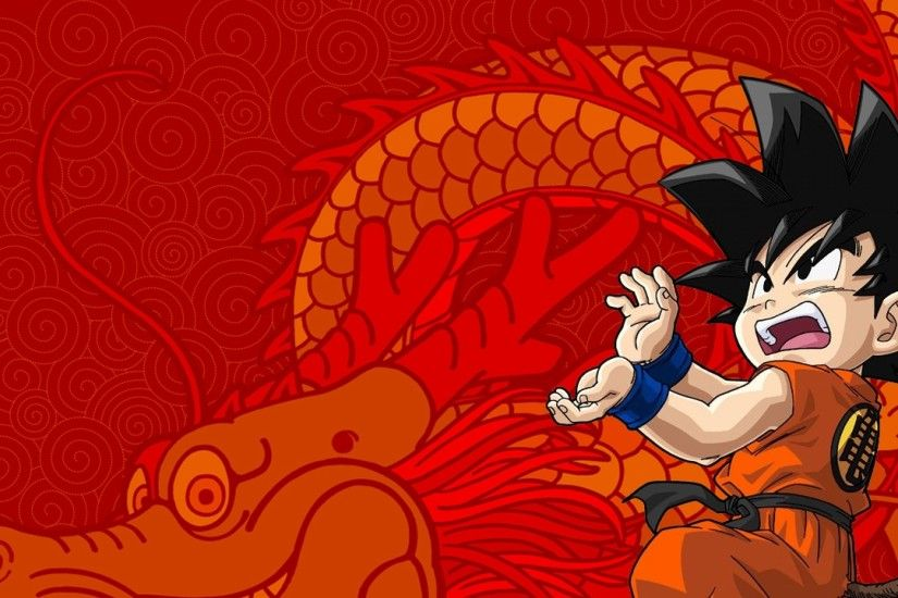 3840x2160 Wallpaper son goku, guy, brunette, dragon, posture