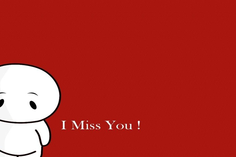 I Miss U Wallpapers With Cartoon Images Hd I Miss You Wallpaper For Him Or  Her