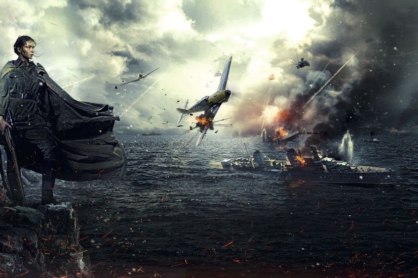 battle, World War II, Soldier, Women, Messerschmitt Bf 109, Battleships,  Snipers, Sniper rifle, Mosin Nagant, Artwork, USSR Wallpapers HD / Desktop  and ...
