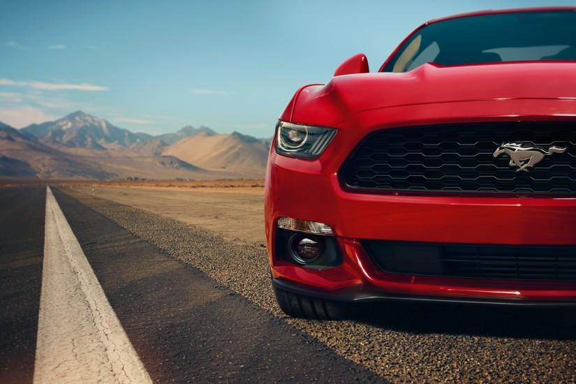 Red Ford Mustang Wallpaper Front.