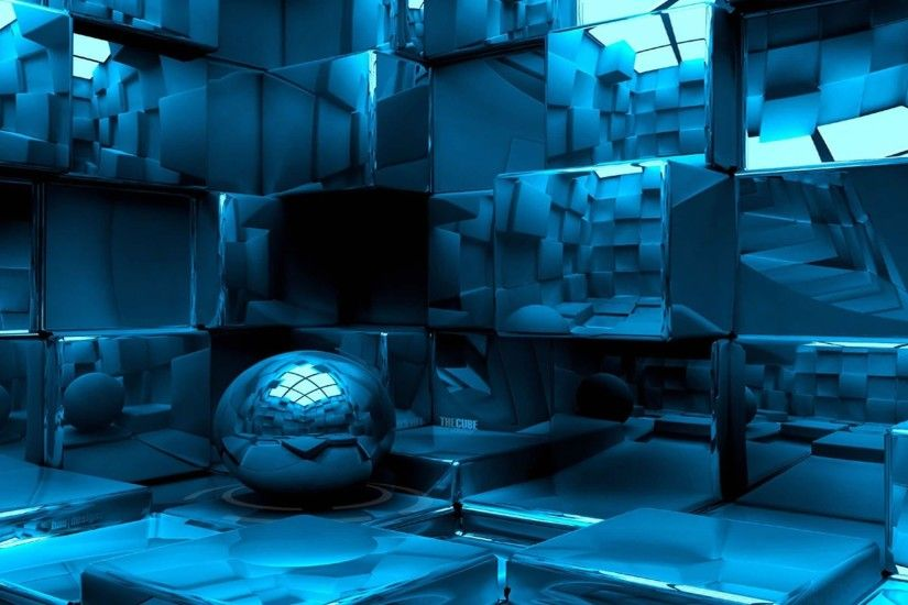 Blue Room in 3D Wallpaper and Photo (High Resolution Download)
