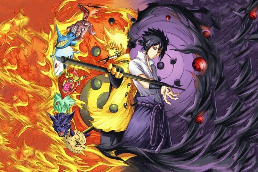 Rinnegan, Naruto Shippuuden, Uchiha Sasuke, Uzumaki Naruto, Anime Boys,  Manga, Sharingan, Fire, Bijuu Wallpapers HD / Desktop and Mobile Backgrounds