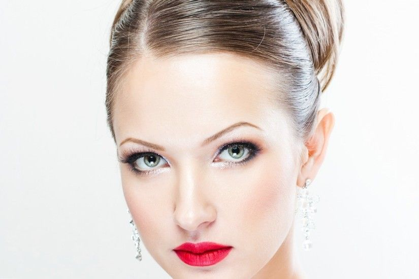 ... Cute Green Eyes And Red Lips Girl Wallpaper Buddy Linked