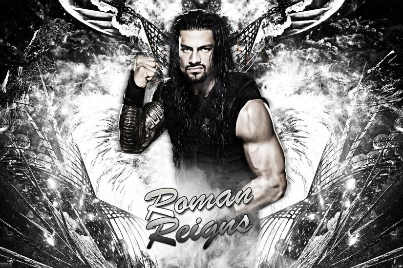 wwe roman reigns 2014 by smiledexizer fan art wallpaper other 2014 .