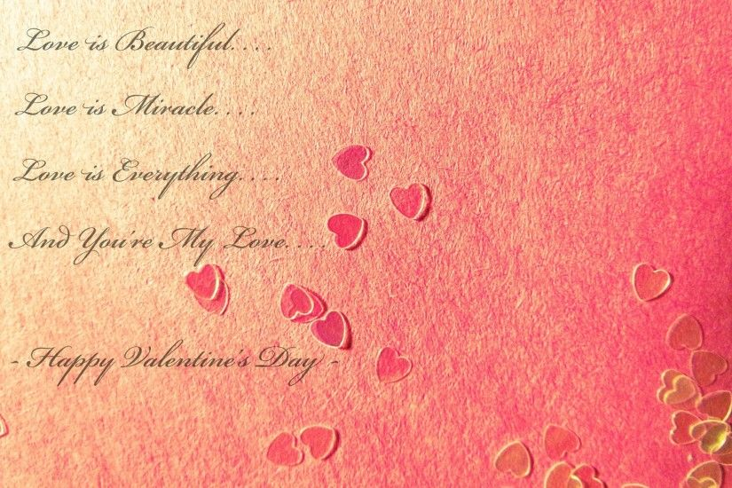 Love is Beautiful Happy Valentines Day quote pictures