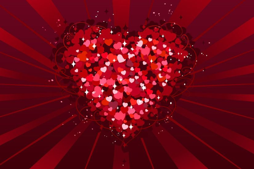 Red hearts valentine days PPT Backgrounds