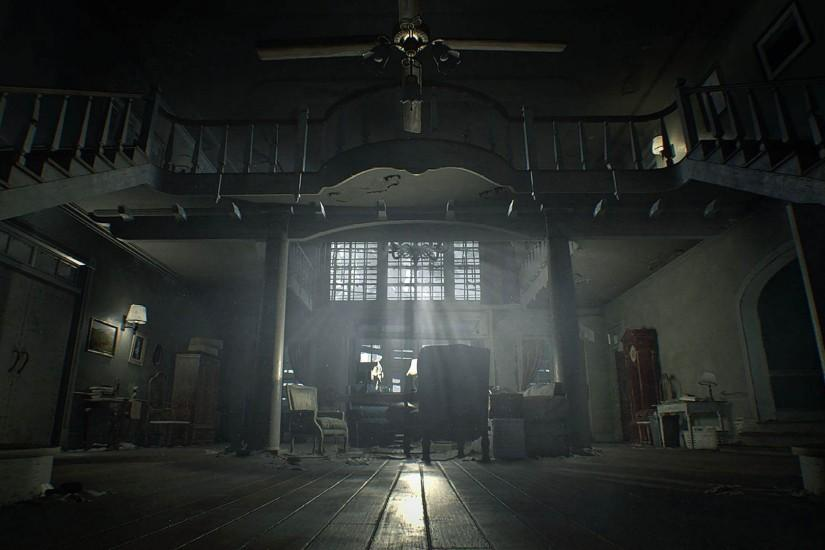 Scary Old Manor Interior - Resident Evil 7: Biohazard 1920x1080 wallpaper