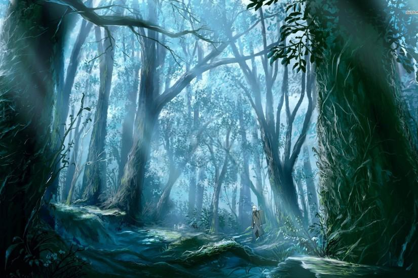Walk through the woods wallpaper - Fantasy wallpapers - #4109