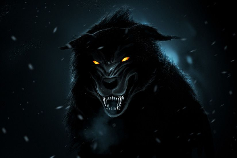 3D Black Wolf Wallpapers HD