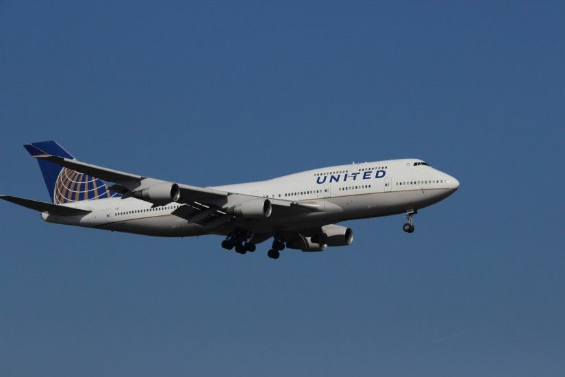 Boeing 747-400 United Airlines 1920×1280