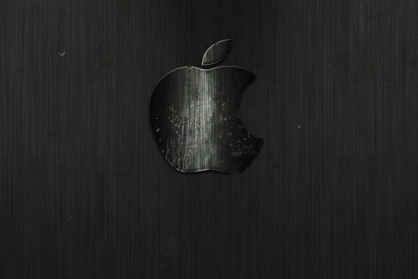 2048x2048 Wallpaper apple, mac, stripes, texture, dark, background