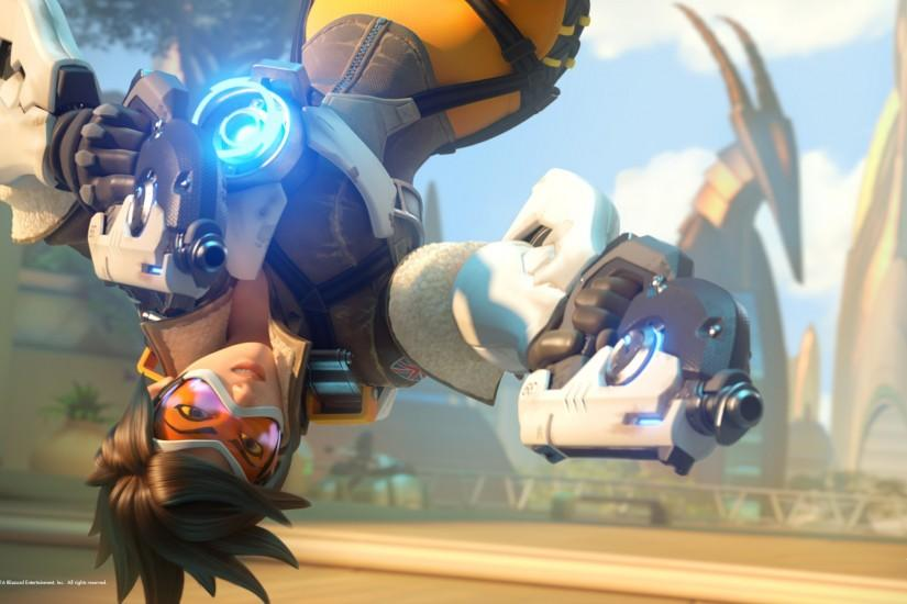 download overwatch tracer wallpaper 2560x1440 for 1080p