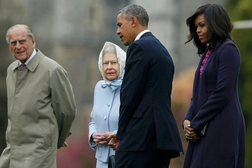 Women - Queen Elizabeth II Barack Obama Wallpaper