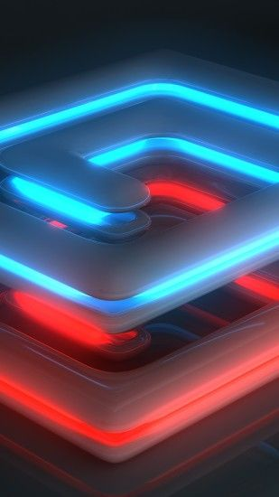 Preview wallpaper neon, light, spiral, shape, surface, luster 1440x2560