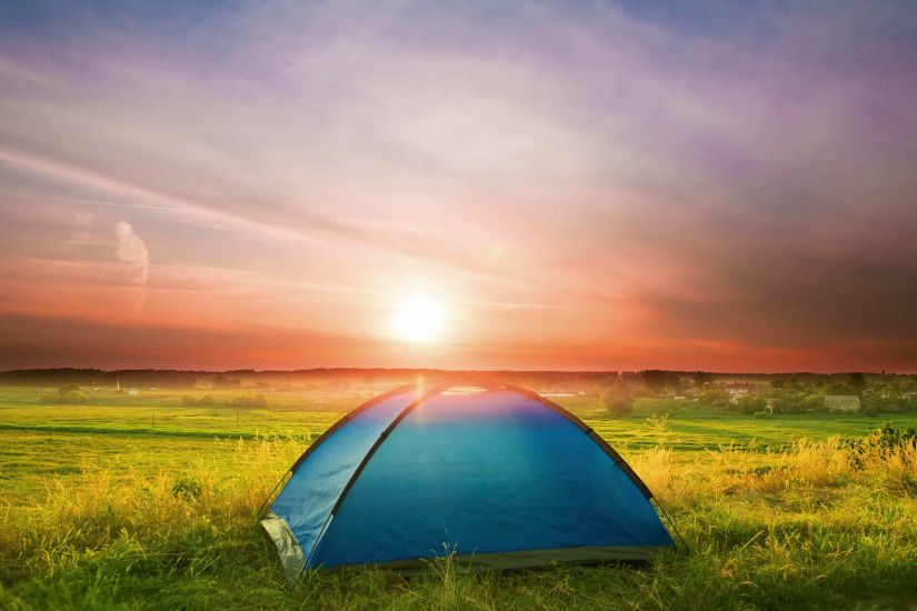 The camping tent by sunset (sunrise) background Stock Video Footage -  VideoBlocks