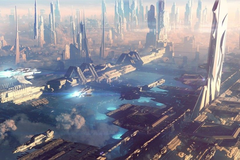 futuristic-city-wallpaper-30.jpg (1920×1080) | Futuristic Cities |  Pinterest | Sci fi, Futuristic city and Concept art
