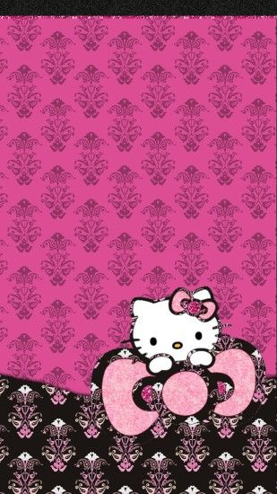 Hello Kitty Black And Pink Wallpaper ①