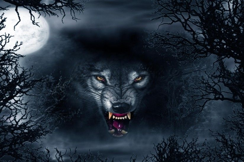 The mystical wolf fantasy wallpaper background picture
