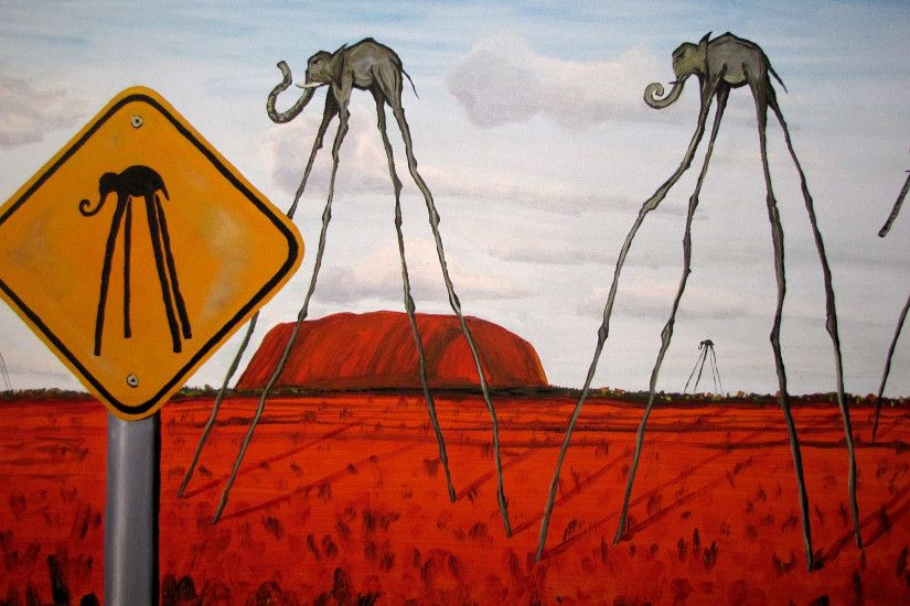 Salvador Dali Wallpaper painting drawing elephants HD Desktop 1920x1200