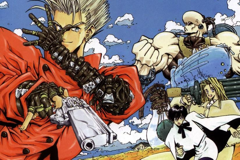Download 1920x1080 1280x800 1280x1024 1366x768 1440x900 1920x1200 Vash The  Stampede Wallpaper Crosses
