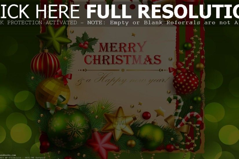 Happy Merry Christmas Wallpaper
