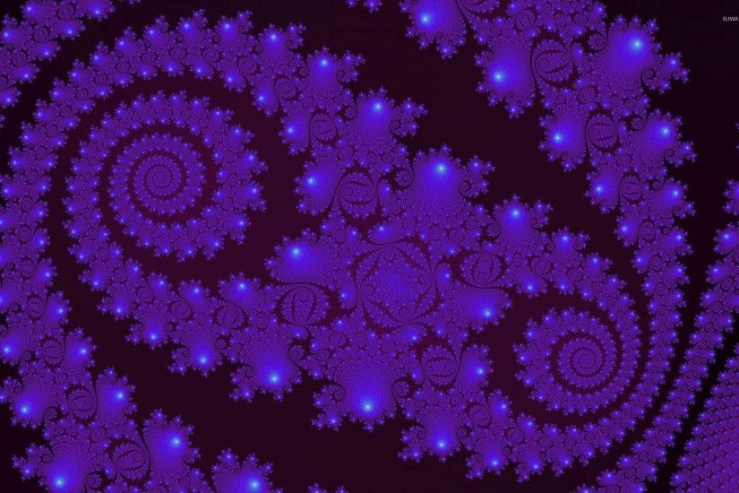 Dark purple fractal waves wallpaper
