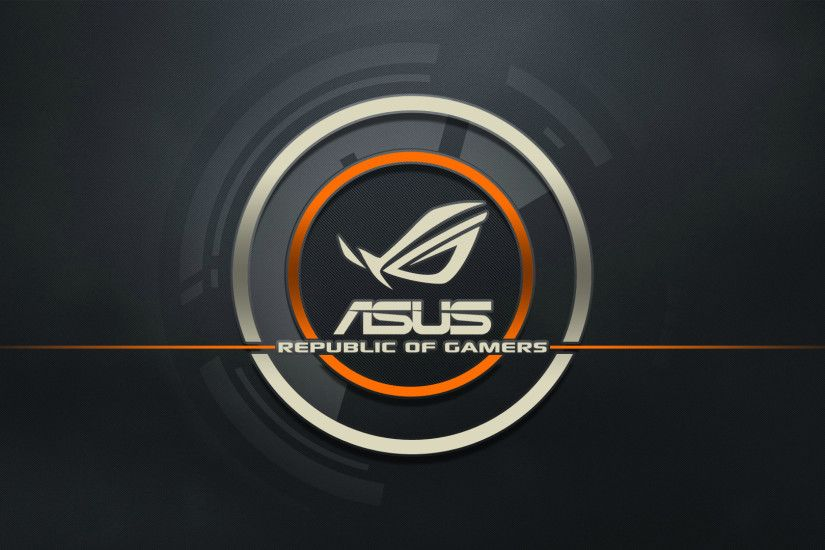 Preview wallpaper asus, logo, republic of gamers, computer 1920x1080