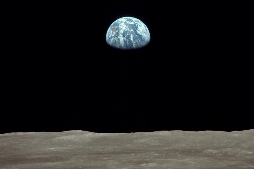 Earth moon nasa astronomy earthrise wallpaper
