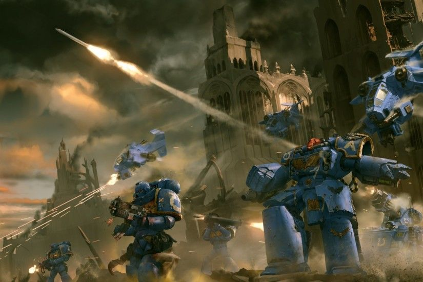 Download now full hd wallpaper warhammer space marine ruin battle ...