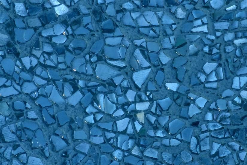 Blue Broken Glass Background
