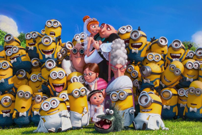 Minion Wallpaper New Art HD 257 Backgrounds Wallpaper. Group Photo Despicable  Me 2