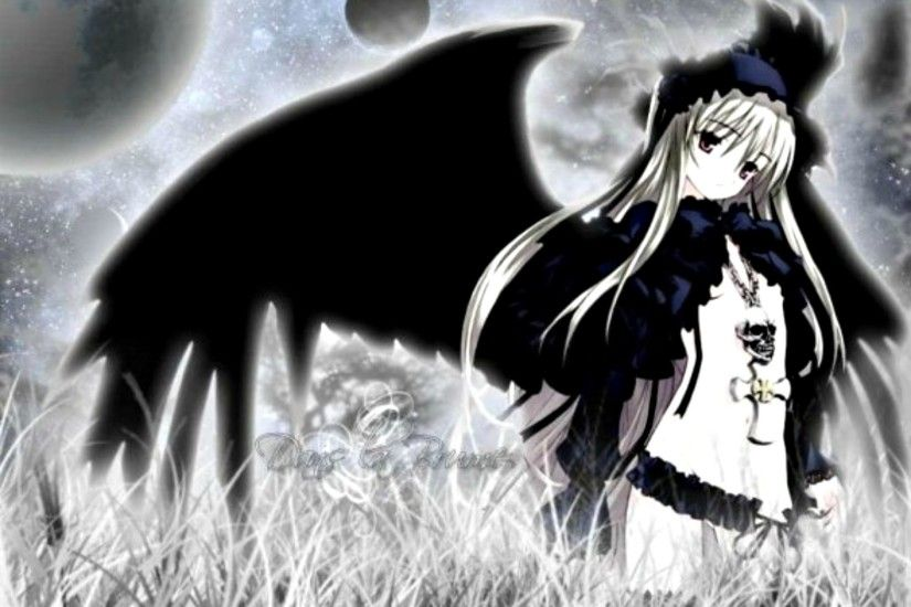 Download Dark Angel Anime Girl wallpaper