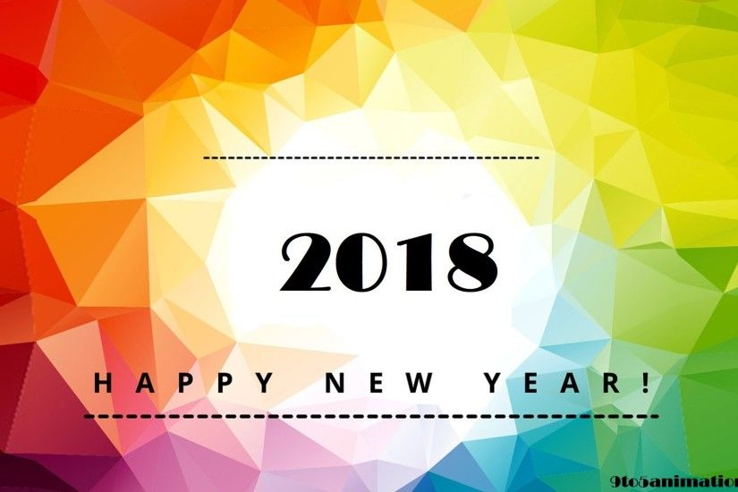 Wallpapers happy new year 2018 high definition desktop backgrounds