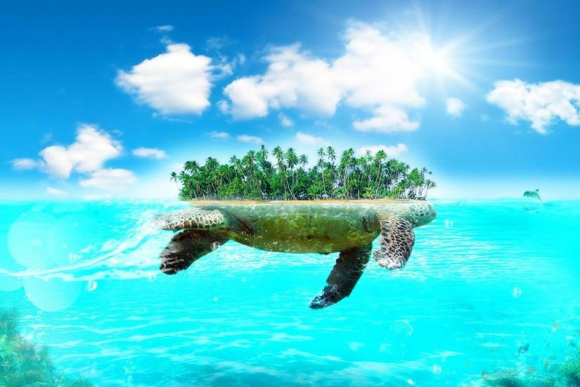 hd-wallpapers-turtle-island-beautiful-large-wallpaper-desktop-