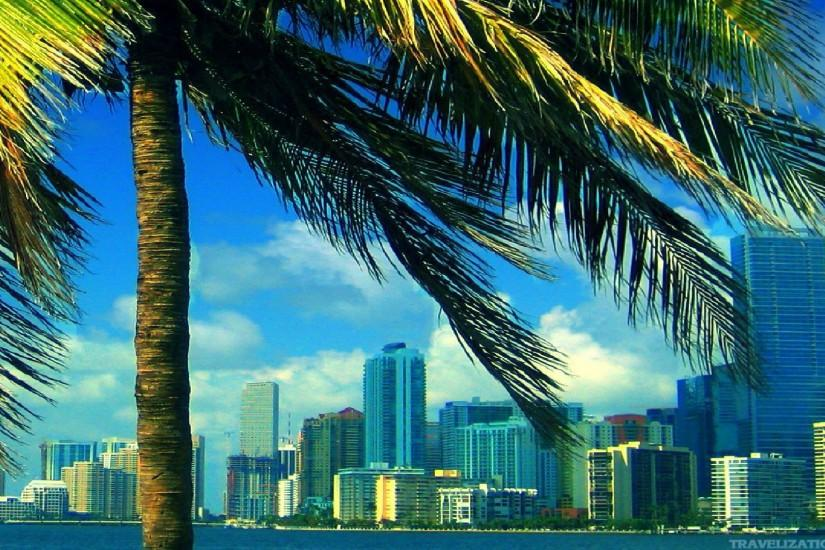 Miami Wallpapers: The City Skyline Across The Beach