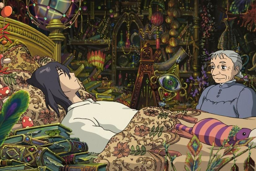 howls moving castle wallpaper 2048x1108 windows 10