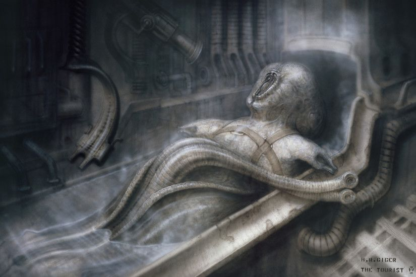 Hans Rüdi Giger: The Tourist IV The creature with the tentacle