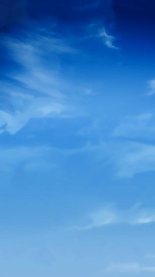 Blue Sky Smudge Clouds Android Wallpaper ...