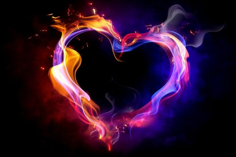 1920x1200 Wallpaper heart, smoke, shape, color
