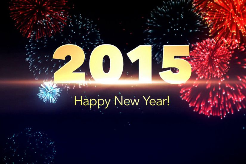 Subscription Library Happy New Year 2015 Background with Fireworks