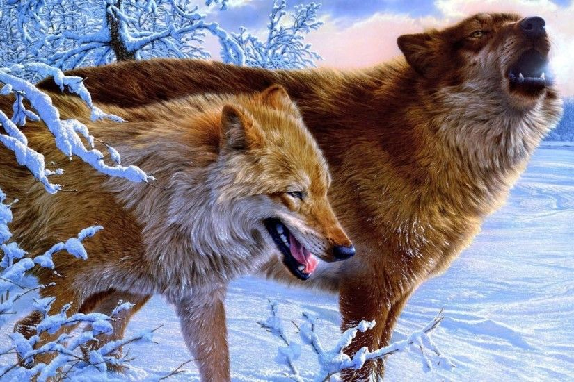 Horrifying Wolves Wallpaper