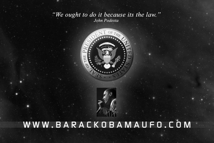 Barack Obama UFO Wallpaper 1