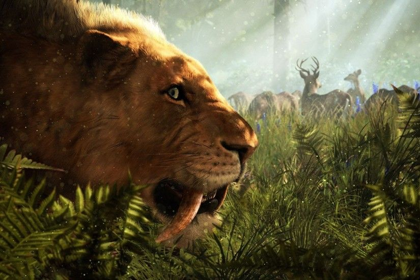 Far Cry Primal Sabertooth Tiger Companion Gameplay
