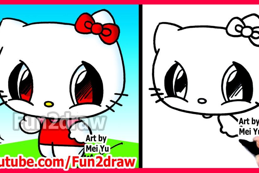 ... Graffiti Character Hello Kitty How To Draw Cartoon Characters – Hello  Kitty – Fun2Draw ...