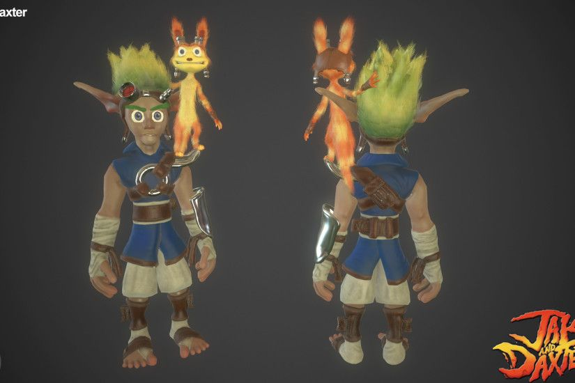 Using dithered alpha maps with vertex painting on the hair and fur, and. Jak  & Daxter ...