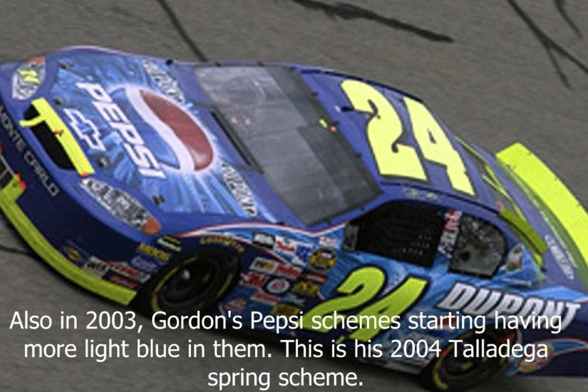 Jeff Gordon's paint schemes through the years