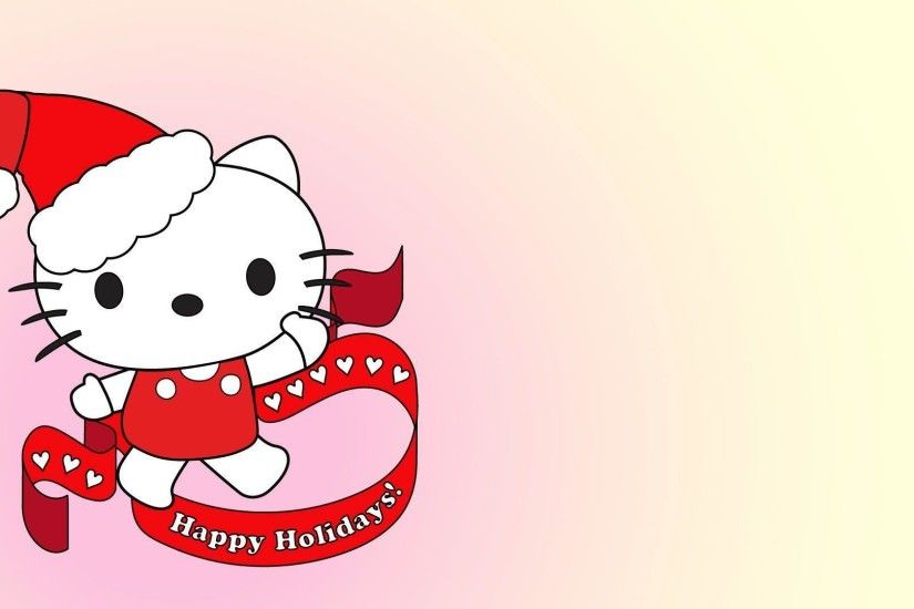 Wallpapers For > Pink Hello Kitty Christmas Wallpaper